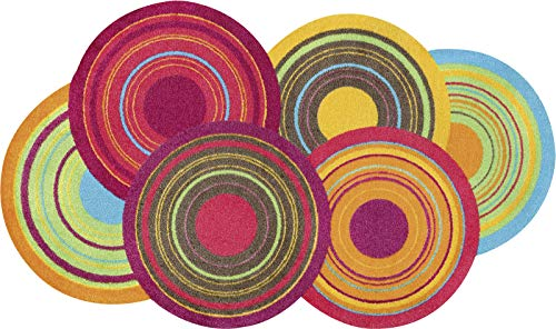 wash+dry Teppich Cosmic Colours, 70x120 cm, innen, waschbar, randlos, bunt