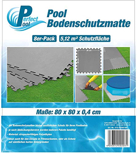 Perfect Pool Poolmatte Pool Bodenschutzmatte Fitnessmatte 8er Pack, M-572-20200190