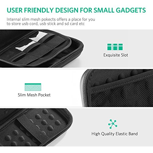 UGREEN External Hard Drive Case Cover 2.5 Inch for Western Digital WD My Passport Element Seagate Expansion Backup Toshiba 500G 1TB 2TB 3TB 4TB and Most 13000 10000mAh Battery Pack Power Bank
