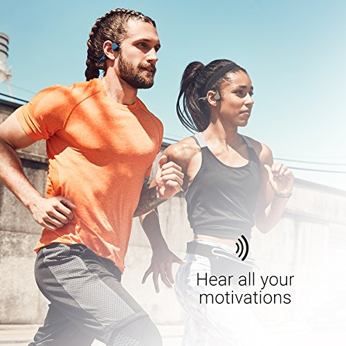 Product Image 5: AfterShokz Air Open-Ear Wireless Bone Conduction Headphones with Brilliant Reflective Strips, Canyon Red, AS650CR-BR