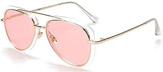b6da268144 RYRYBH Gafas de Sol para Mujer Cat Eye Pilot Marco de Metal Gafas Cruzadas  Espejo Flash
