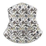JKHHW Fleece Nackenwärmer Gamasche Viele Katze Weiche Mikrofaser Kopfbedeckung Gesicht Schal Maske Für Winter Kaltes Wetter &Warmhalten Für Herren Frauen