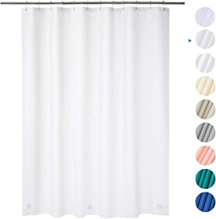 "AmazerBath Plastic Shower Curtain, 72"" x 72"" Frosted EVA 8G Thick Bathroom Shower Curtains Eco-Friendly with Heavy Duty Stones and 12 Rust-Resistant Grommet Holes"