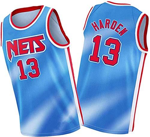 ATI-HSKJ Maglie da Basket NBA,Brooklyn Nets James Harden # 13 Jersey Cool Tessuto Traspirante Swingman Canotta Senza Maniche Top Abbigliamento,L(175~180CM/75~85KG)