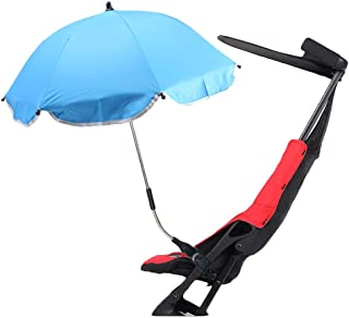 Clamp-On Shade Umbrella, with Umbrella Clip Fixing Device, Great for Beach Chairs, Bleachers, Strollers, Wagons, Wheel Cha...