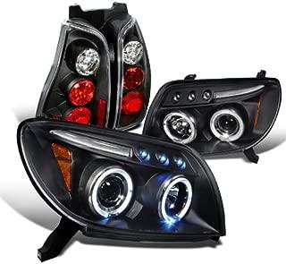Spec-D Tuning LT2LHP-4RUN03JM-TM Headlight Tail Light (Black Halo Projector)