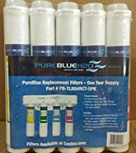PureBlue TLR04RC-5PK Twist Lock Replacement Filter Pack for 4-Stage Reverse Osmosis