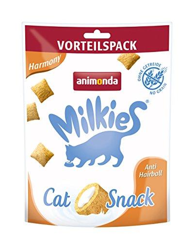 animonda Milkies Harmony, getreidefreie Knusperkissen für Katzen, Katzensnack, 6 x 120 g
