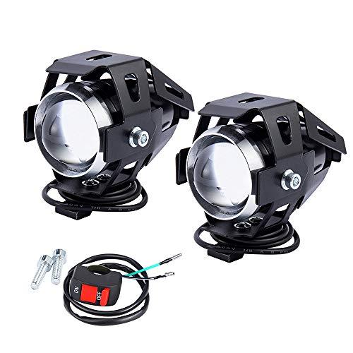 2 PCS Fari Moto Faretto Anteriore U5 LED con Interruttore On Off...