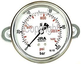 jra de Longlife glyzerin Manómetro 0–100Bar ng63Conector trasera con banda de G1/4