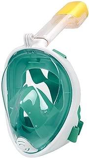 CapsA Full Face Snorkel Mask for Kids and Adults Full Face Snorkel Mask Scuba Diving Swimming Easy Breath Underwater Anti Fog Dry Anti-Leak Easybreath Snorkeling Gear