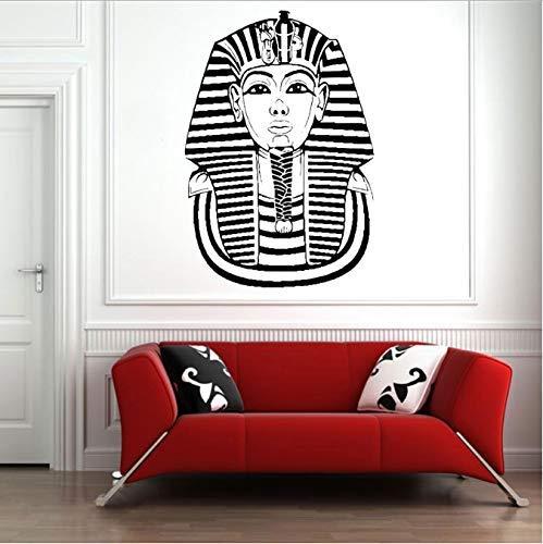 Egyptische Kunst Farao Masker Historische Decals Vinyl Sticker Muurschildering Muurschildering Interieur Sticker Geschiedenis Kunst Educatieve 42X62Cm
