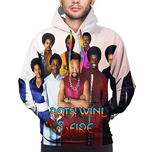 hengtaichang Earth Wind & Fire Mens Pullover Sweatshirt 3D Printed Hooded Sweatshirt