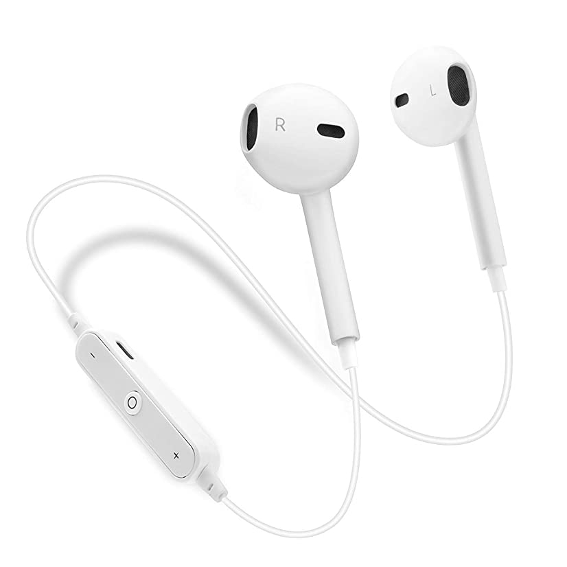 Wireless Bluetooth Headphones, Wireless Earbuds Sport Earphones, HiFi Bass Stereo Sweatproof Earbuds w/Mic, Noise Cancelling Headset with Stereo & Anti-Interference for Workout Running