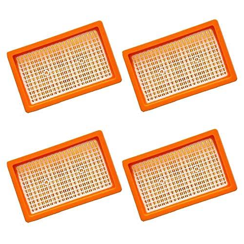 4 filtros de pliegues planos | para aspiradora multiusos Kärcher + aspiradora en seco / húmedo | MV4 + MV5 + MV6 + WD4 + WD5 + WD6 | como 2.863-005.0 WD 4-6 y MV 4-6