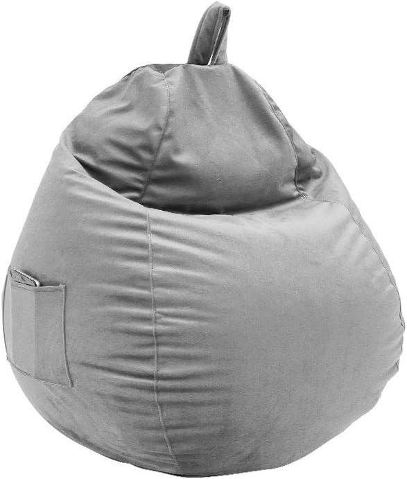 Sitzsack Sitzkissen Bodenkissen Kissen Sessel BeanBag EPS Perlen F/üllung Bean Bag mit Seitlichen Taschen Chair Bodenkissen f/ür Kinder und Erwachsene Game M/öbel Kissen Indoor und Outdoor Blau, Gro/ß