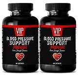 Natural Blood Pressure lowering Supplements - Blood Pressure Support - Extra Strength Formula - Olive Leaf Capsules - 2 Bottles 120 Capsules