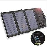 ZSPSHOP Cargador Solar Plegable Portátil Plegable 6000mAh Batería 5V 15W Dual USB + Tipo-C Cargador De Panel Solar Al Aire Libre para Teléfono Inteligente Tablet Cámara Powerbank Y Camping Travel