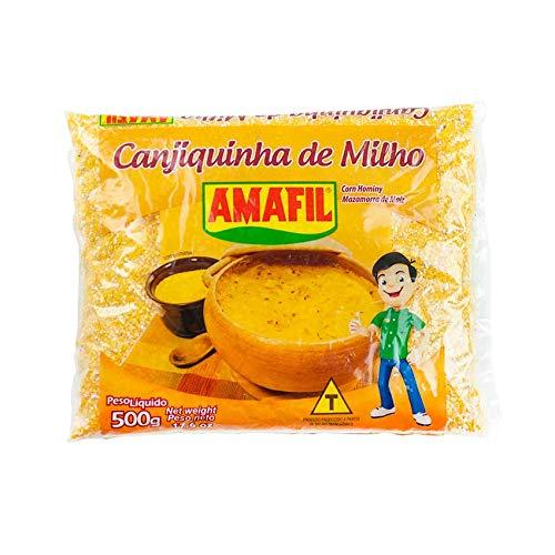 Geschälter geschroteter gelber Mais, Beutel 500g - Canjiquinha de Milho AMAFIL 500g