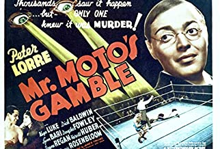 Mr. Moto's Gamble Featuring Peter Lorre 24x18 Poster