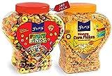 Percy Corn Flakes Original and Fruit Rings Combo of 2 Jars [Multigrain Froot Loops High Fibre Cream Cereal] Jar 680 g