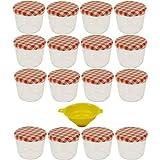 Viva Haushaltswaren - 16 x kleines Marmeladenglas / Einmachglas 230 ml mit Deckel, Twist-off Gläser...