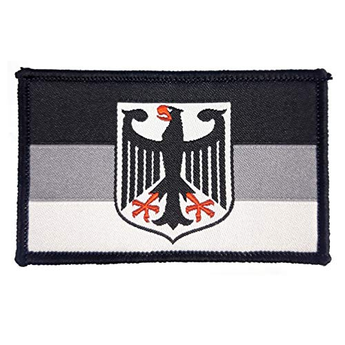 2 x Deutschland Adler Aufnäher Militär Paintball Airsoft Bundeswehr Deutsch Armee Fahne Flagge
