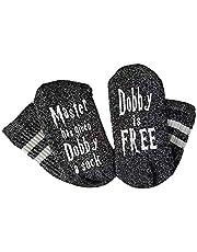 Daliuing Calcetines Unisex Calcetines de Moda Calcetines de algodón Zapatillas Transpirables y Transpirables Hermosa declaración : Master has Give Dobby a Sock