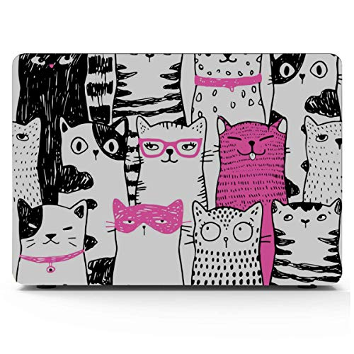MacBook Pro13 Inch Case Funny Cats MacBook Protector Hard Shell Mac Air 11'/13' Pro 13'/15'/16' with Notebook Sleeve Bag for MacBook 2008-2020 Version