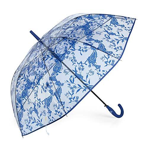 Lois - Paraguas Mujer Largo Estampado Transparente...