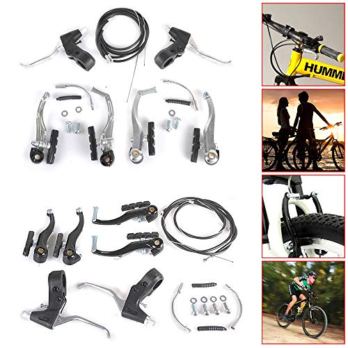 JOYFULBID Cycling Bicycle Alloy V Brake+ Levers+Cables for BMX MTB Bike (Black)
