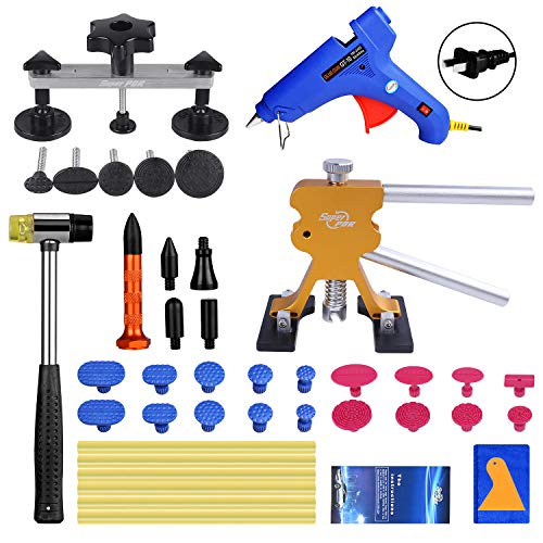 Super PDR Paintless Dent Repair (PDR Tools) Kit - 42Pcs Car Dent Puller Removal Dent Remover Kit