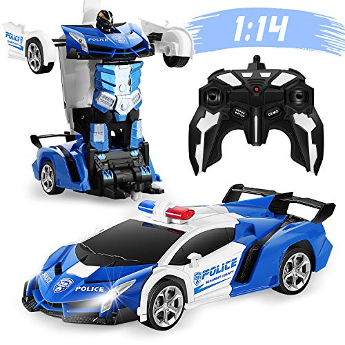 Product Image of the FIGROL Transform RC Car Robot 1:14 Scale, Remote Control Car One Button...
