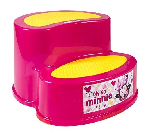子供 2段 ステップ ディズニー ミニーマウス ピンク 滑り止め付き 女の子 踏み台 キャラクター ステップスツール [並行輸入品]