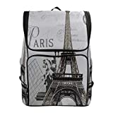 Mochilas Retro de la Torre Eiffel de París Bolso para computadora portátil para Libros universitarios Camping Senderismo Mochila de Viaje