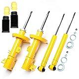 4 amortiguadores deportivos de presión de gas delantero y trasero + protección contra el polvo –...
