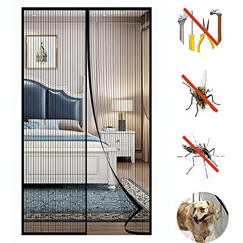Fliegengitter Tür Insektenschutz Magnet Fliegenvorhang - Kinderleichte Klebemontage Ohne Bohren für Wohnzimmer Balkontür Terrassentür - 80 x 195 cm