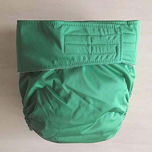 Erwachsenen-Stoffwindeln, waschbar, verstellbar, wiederverwendbares Tuch für Inkontinenzpflege-Schutzhöschen für alte Männer, geeignet für die Verwendung mit eingesetzten Windeln,B,S