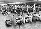 Großformatiges Poster der Endkontrolle des Volkswagen