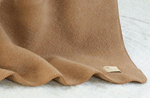 Wolldecke aus 90% Schurwolle und 10% Alpaka in 145x200-220cm umkettelt (145x200cm)