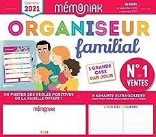 Organiseur familial Mémoniak 2020-2021 - Calendrier sur 16 mois de sept 2020 à déc 2021 : des magnets ultra-solides et...