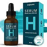 Serum Ácido Hialurônico + Vitamina B5 + Extrato de Bulbo de Açafrâo - Sérum Facial - 99% Ingredientes Naturais - Hidrata, Suaviza e Tonifica a Pele – Ideal para todos os tipos de pele– 30 ml