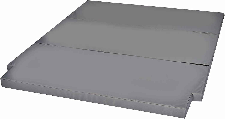 Mayaadi Home Schlafauflage groe Faltmatratze geeignet für T5 T6 California Beach Matratzenauflage 200x150x8cm MH-SAVWCB Grau