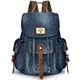 Convertible Denim School Backpack pour Teen Girls Femmes Cute Bookbag Voyage Sac à dos Élève...