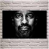 ASLKUYT Denzel Washington cool schwarz-weiß Porträt