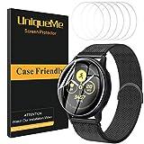 UniqueMe [6 Pack] Protector de Pantalla para Samsung Galaxy Watch Active 2 44mm, [Fácil instalación] [Caso Amistoso] Soft HD Clear