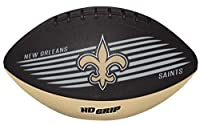 Rawlings NFL New Orleans Saints 07731077111NFL Downfield Football (All Team Options), Black, Youth
