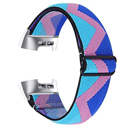 GIMart Compatible con Fitbit Charge 4/Charge 3 Correa para mujeres y hombres, tela transpirable, correa deportiva tejida de nailon de repuesto para Fitbit Charge 3 y Charge 4 y SE, pequeña y grande