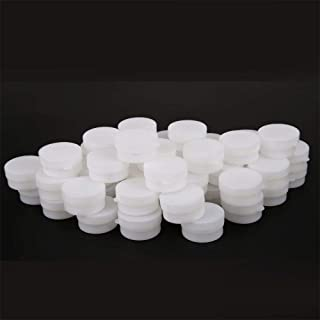 50 Pieces 5G Refillable Cosmetic Jars Round Clear Jars with Snap Lids Plastic Travel Case Empty Cosmetic Containers for Ey...