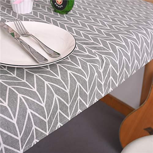 YYXDP Tischdecke Einfache Baumwollleinen Tischdekoration Tischdecke Teetischdecke Grauer Pfeil Gelbe Mig Tischdecke